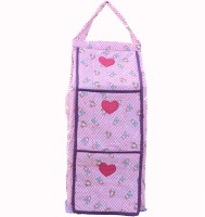 SRIM SMC0026 Cotton Collapsible Wardrobe(Finish Color - Pink)