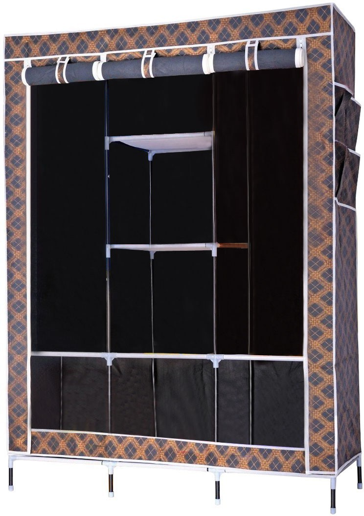 23049c6f9 Evana Furniture Price List. Evana Big Black Plaid -02A Carbon Steel  Collapsible Wardrobe(Finish ...