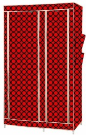 MSE Stainless Steel Collapsible Wardrobe(Finish Color - Red)