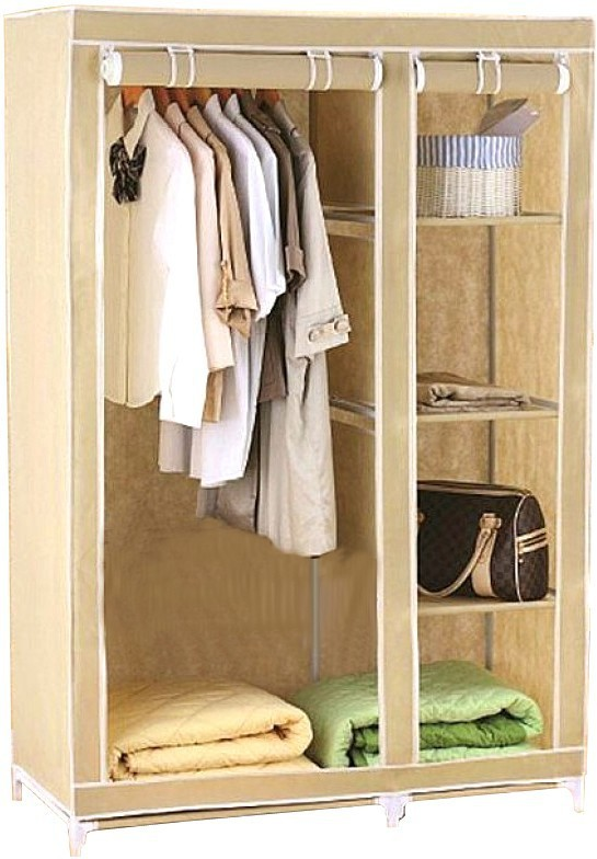 View Pindia Fancy & Portable Aluminium Collapsible Wardrobe(Finish Color - Beige -wardrobe) Furniture (Pindia)