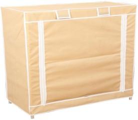 Novatic PVC Collapsible Wardrobe(Finish Color - Light Cream)