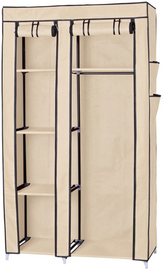 View Macintosh Carbon Steel Collapsible Wardrobe(Finish Color - Beige) Furniture (Macintosh)