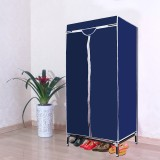 Kawachi Single door wardrobe Polyester C...