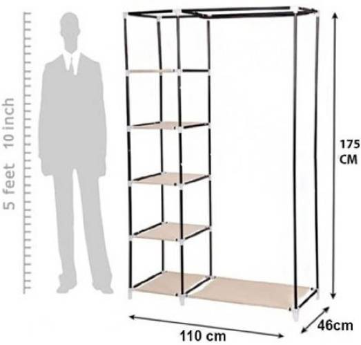 SRB Jute Collapsible Wardrobe class=