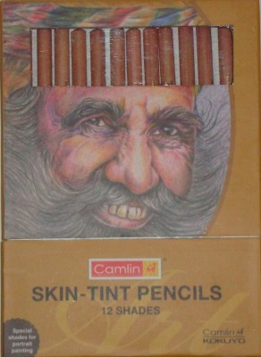 Camlin Skin Tint Pastel Round Shaped Color Pencils
