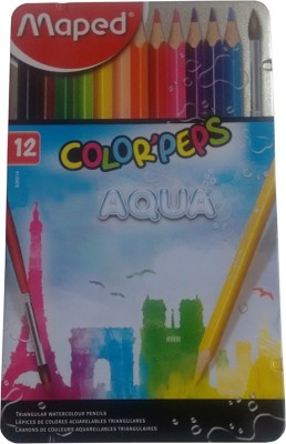 Maped AQUA Triangular Shaped Color Pencils(Set of 1, Multicolor)