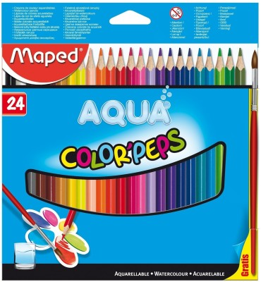 Maped Water Color Pep,s Triangular Shaped Color Pencils