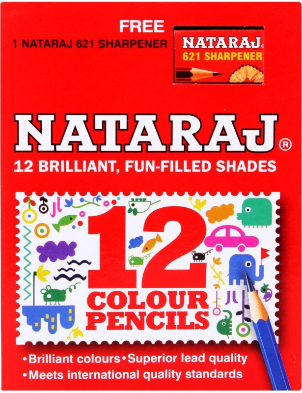 Natraj Art Creation Round Shaped Color Pencils(Set of 1, Multicolor)