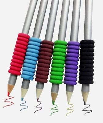Pigloo Rubber Grips Round Shaped Color Pencils