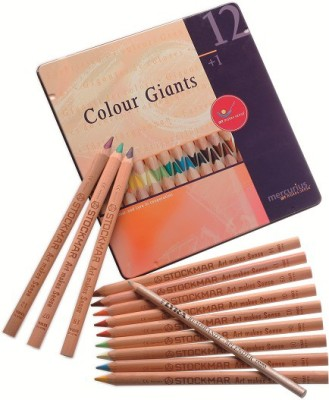 Stockmar 12 Giants Traingular Shaped Color Pencils
