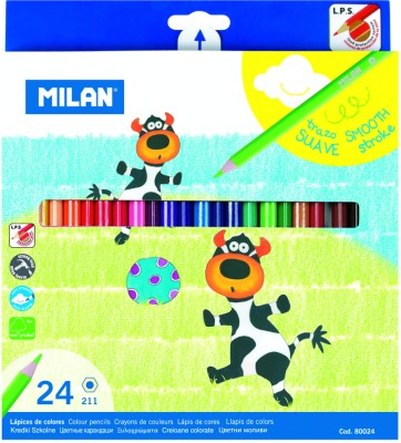 Milan 12 Shades Hexagonal Shaped Color Pencils