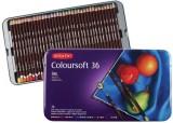 Derwent 36 Tin Round Shaped Color Pencil...