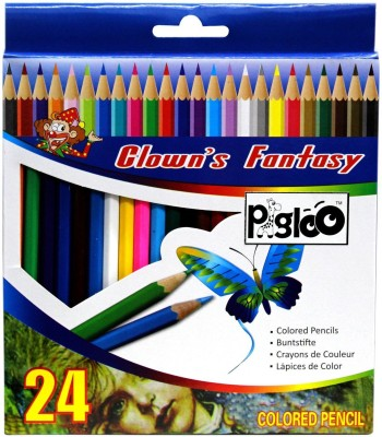 Pigloo Fun and Bright Heaxagonal Shaped Color Pencils