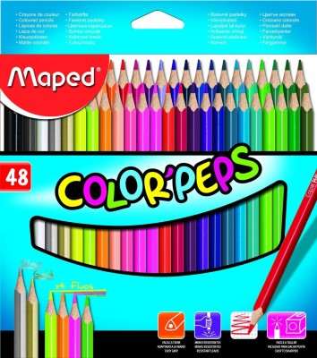 Maped Art Creation Traiangle Shaped Color Pencils