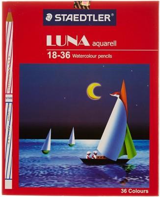 Staedtler Luna Triangular Shaped Color Pencils(Set of 18, Multicolor)