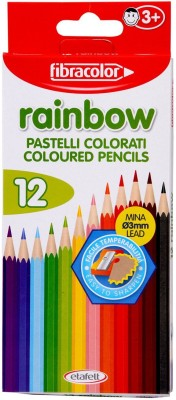 Fibracolor Rainbow Color Triangular Shaped Color Pencils