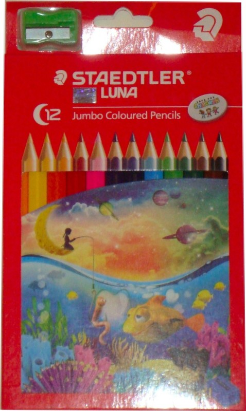 Staedtler Luna Hexagonal Shaped Color Pencils(Set of 1, Assorted Color)