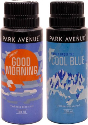 Park Avenue Park Avenue Cool Blue, Good Morning Pack of 2 Deodorants Combo Set