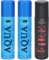 Vincent Valentine Paris Set of Dark Fire, Aqua De Valentine & Aqua De Valentine Deodorants Combo Set best price on Flipkart @ Rs. 540