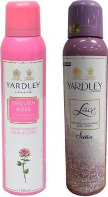 Yardley English Rose and Lace Satin Combo Set(Set of 2)