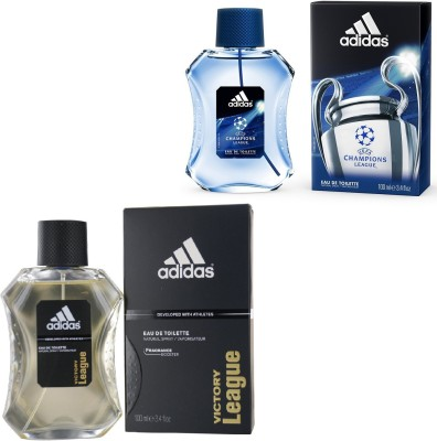 Adidas Victory League Edt 100 Ml And Champions League Edt For Men 100 Ml Gift Set  Combo Set