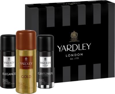 Yardley Assorted Men Body Spray Tri Pack Combo Set