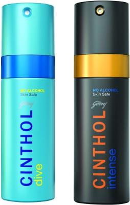 Cinthol Deo Spray - Dive + Intense Combo Set