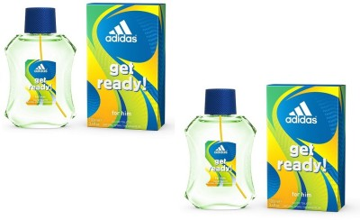 Adidas Get Ready EDT for Men 100 ml (100 ml x 2) Combo Set