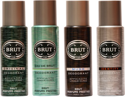 Brut Original,Eau De Brut,Musk,Identity Combo Set