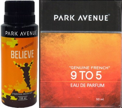 Park Avenue Believe Deodorant ,9 to 5 EDP Combo Set