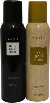 Avon Little Black & Gold Dress Body Each 150 ml Combo Set