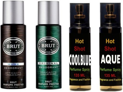 Brut Set of brut deo and perfume of Fragrance and Fashion Combo Set