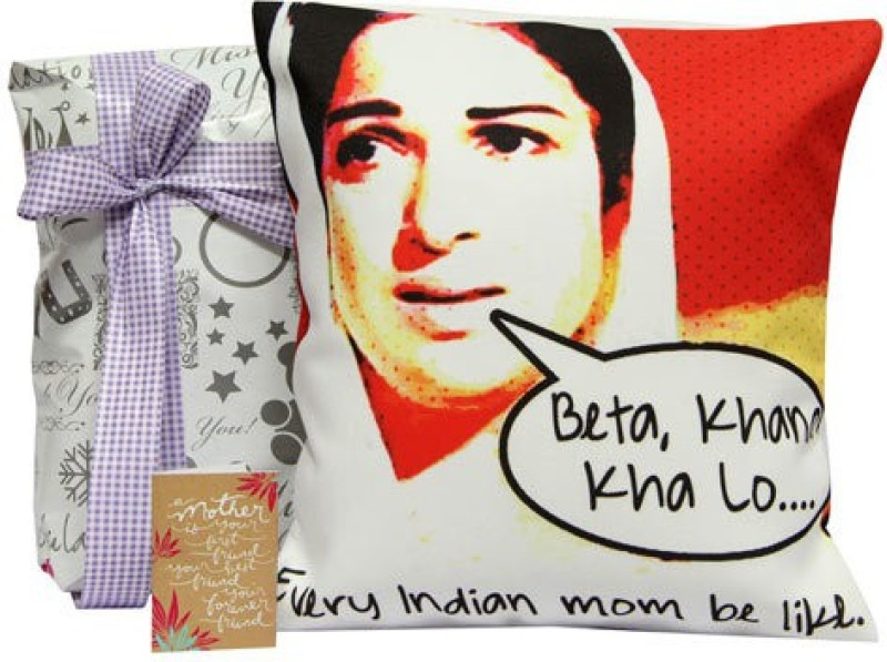 Gifts By Meeta Black & White Cushion For Maa Combo Set(Set of 3)