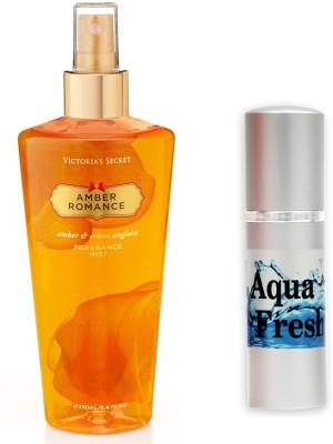 Victoria's Secret Amber Romance and Aqua Fresh Combo Set