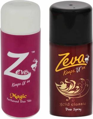 Zeva Keepz U On Bodyspray WITHOUT ALCOHOL for men/women Deospray UNISEX giftset Combo Set