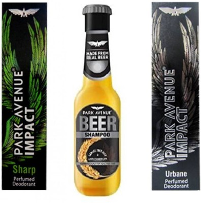 Park Avenue Sharp,Urbane and Anti Dandruff Beer Shampoo Combo Set