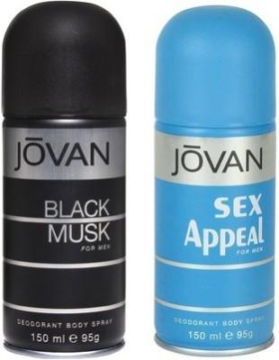 Jovan Black Musk and Sex Appeal Combo Set