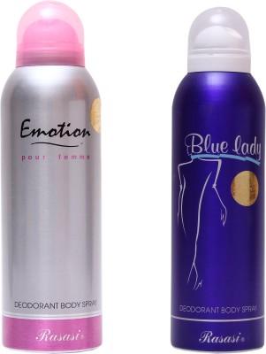 Rasasi Emotion Women::Blue Lady Combo Set