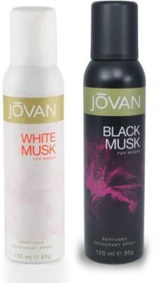 Jovan White Musk & Black Musk Combo Set