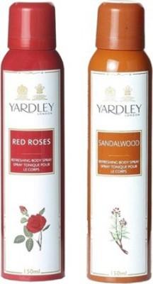 Yardley Red Roses and Sandalwood Combo Set