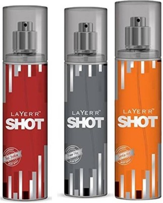 Layer,r Power Play , Red Stalion & Smokin Hot Deodorants 135 ml Each Combo Set