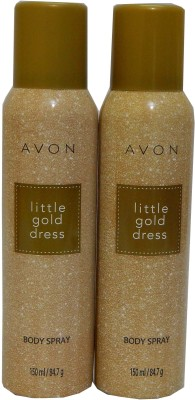 Avon Little Gold Dress Body Each 150 ml Combo Set