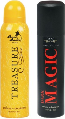 Anna Andre Paris Treasure & Dark Magic Deodorant Combo Set