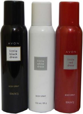 Avon Little Black & White & Red Dress Body Each 150 ml Combo Set