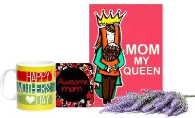 Gifts By Meeta Card,Coaster and Black Mug Combo Set