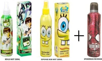Disney_intellect Spiderman Ben 10+Bob Sponge Combo Set