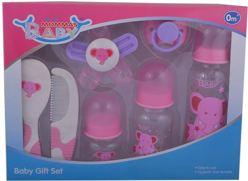 Mommas Baby Mommas Baby Baby Gift Set (Pink) Combo Set(Set of 7)