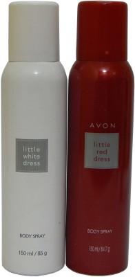 Avon Little Red & White Dress Body Each 150 ml Combo Set