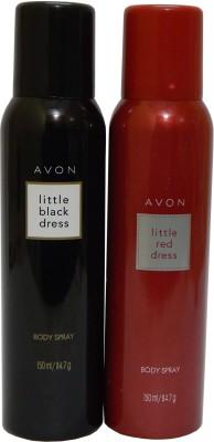 Avon Little Black & Red Dress Body Each 150 ml Combo Set(Set of 2)