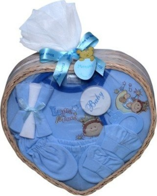 Baby Bucket 9 Piece Little Prince Gift Set Combo Set